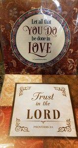 Other - Bible Scripture Art Home Decor Canvas Signs Set